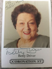 6x4 Hand Signed Photo of Coronation Street Betty Turpin Driver Hotpot