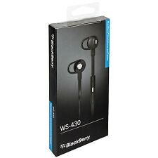 GENUINE BLACKBERRY WS-430 Z10 Z30 Q5 Q10 CURVE PREMIUM HEADSET EARPHONES BLACK