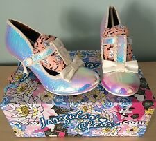 IRREGULAR CHOICE - LAZY RIVER - IRIDESCENT SHOES SIZE 38 (5) BRAND NEW IN BOX!