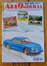 Revue Automobilia n°35, mars 1999, 66 pages, Renault Alpine berlinette