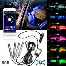 Bluetooth RGB App Lights Interior Footwell Flash Strobe 4 x 9 LED Audi A4 A5 A6