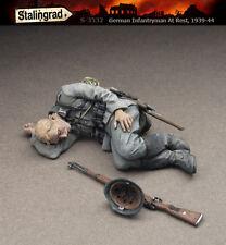 1/35 ensemble figurine miniature en résine Fantassin Allemand au repos #2 WW2