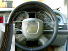 FOR LAND ROVER FREELANDER 2 ITALIAN LEATHER STEERING WHEEL COVER YELLOW STITCH