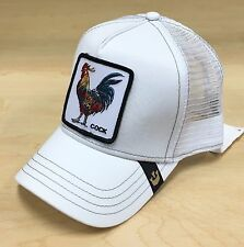 Goorin Bros Gallo Rooster Animal Farm Patch Trucker Hat Cap White
