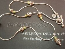 SILPADA RETIRED Sterling Silver 925 Citrine Peridot Silver Beads Necklace N0771