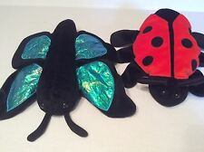 Lady Bug andButterfly Caltoy Plush Glove Bug Hand Puppet Toy
