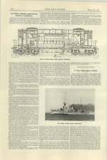 1925 Italian The Blended Diesel Electric Locomotive Us Cruiser Marblehead