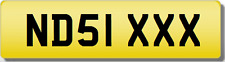 ND NDS 1 XXX SEXY  Private CHERISHED Registration Number Plate
