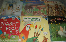 Lot of 6 Please Read to Me Story Picture Books-Animals, Alphabet, Colors & Poem