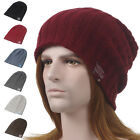 Men's Winter Baggy Knit Long Beanie Cap Cuff Stocking Skull Loose Ski Hat