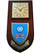 British Contingent United Nations Cyprus Regiment Military Wall Plaque & Clock