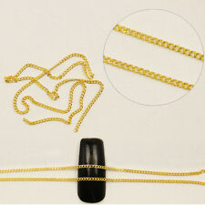 1m Nail Art Tips Stickers Metal Glitter Striping Chain Decorations TO