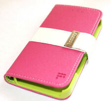 iPhone 5 5S SE Pink White Green Soft Leather Card Wallet Flip Pouch Case Cover