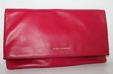 NWT YSL YVES SAINT LAURENT PARIS OVERSIZED FOLD OVER CLUTCH FUSCHIA