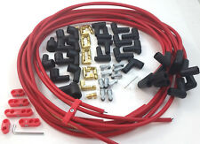 SBC SB Chevy Universal Red Taylor 8 MM Spark Plug Wires 90 Degree W/ Looms 350