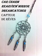 Car Charm Dreamcatcher New Design Rearview Mirror DANGLE CHARM Blue  FEATHERS