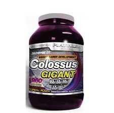 COLOSSUS GIGANT TROPICAL 3KG PROTEINA CARBOHIDRATOS CREATINA GLUTAMINA BCAA EN 1
