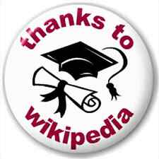 NEW LAPEL PIN BUTTON BADGE: Thanks To Wikipedia