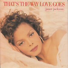 "JANET JACKSON  That's The Way Love Goes  PICTURE SLEEVE 7"" 45 rpm vinyl record"