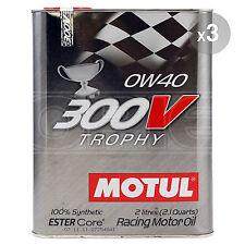 Motul 300V 0W-40 Trophy Racing Engine Oil 3 x 2 Litres 6L