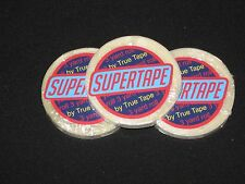 "SuperTape1/4""x 3 Yard 3 Roll Tape ~Hair Extensions,Adhesive on white lined core."