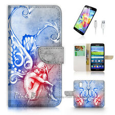 Samsung Galaxy S5 Print Flip Wallet Case Cover! Butterfly Angel P1469
