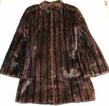 'MATHER'S ' WOMEN'S BROWN FUR COAT, SIZE LARGE, VG CONDITION