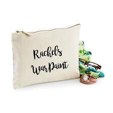 Personalised War Paint Make Up Bag -Ideal Birthday Present Christmas/Xmas Gift