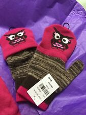 NWT Girls Owl One Size Gloves Mittens Purchased At Cracker Barrel Great 4 Winter