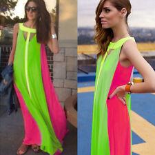 Women Long Beach Dress Cocktail Party Ball Gown Party Summer Dress Size XXL