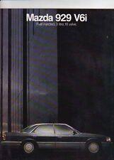 1987 MAZDA 929 V6i Australian Brochure HARDTOP & SEDANS
