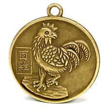 "YEAR of the ROOSTER GOOD LUCK CHARM 1"" Chinese Zodiac  HIGH QUALITY Horoscope"