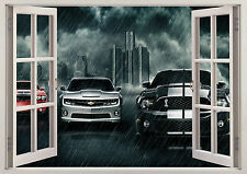 MUSCLE CARS FORD MUSTANG GT COBRA WINDOW WALL STICKER LOUNGE BEDROOM GIRLS BOYS
