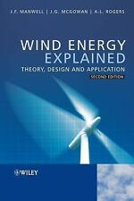 Wind Energy Explained : Theory, Design and Application by Manwell, Anthony NEW