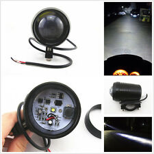 Black 12V 30W Cree U2 LED Waterproof Motorcycle Laser Head Fog Light Spot Light