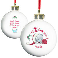 Personalised Babys 1st Christmas Tatty Teddy Tree Bauble Decoration - Gift