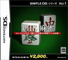Used Nintendo DS Simple DS Series Vol. 1: The Mahjong Japan Import Free Shipping