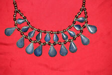 100% Authentic Ethnic Vintage Lapis Lazuli Antique Afghan Handcrafted Necklace