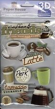 """""""Coffee Talk"""" 3-D Stickers - Paper House Productions"""
