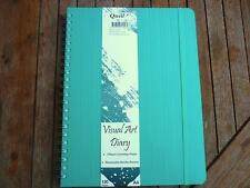 Quill Visual Art Diary A4 Removable divider pocket 120 pages 120gsm paper  Aqua