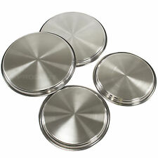 Set of 4 Cooker Hob Covers Stainless Steel Round Electric Protectors Rings Oven