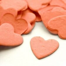 Coral Heart Shaped Plantable Wildflower Seed Recycled Paper Confetti