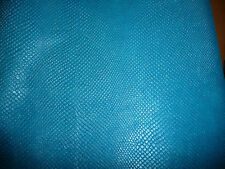 """Leather 8""""x10"""" PEARLIZED American Turquoise Blue AMAZON Cobra Cowhide"""