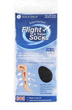 Mens sockshop BIGFOOT Flight 14-18mmHg Socks size 12-14 uk, 47-50 eur Black