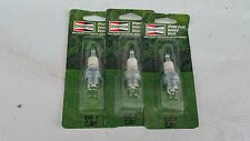 Lot of 3 Champion 848-1 CJ8Y Spark Plugs I86