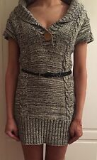 Beautiful jumper dress with belt