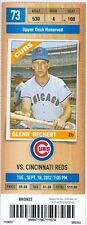 2012 Cubs vs Reds Ticket: Dusty Baker 3,000th game as a big league manager