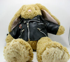 Build A Bear BUNNY RABBIT Plush Stuffed Animal Harley Davidson Jacket Superman T