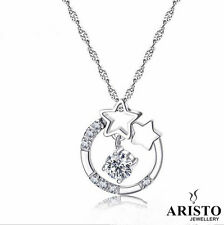 Star Pendant 925 Sterling Silver Necklace Chain Jewellery Set Ladies Gift New UK