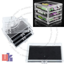 Make Up Cosmetics Display Storage 3 Drawers Clear Acrylic Box D2434